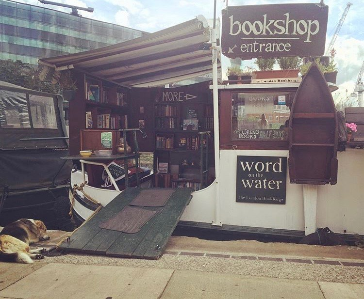 bookshop on a boat