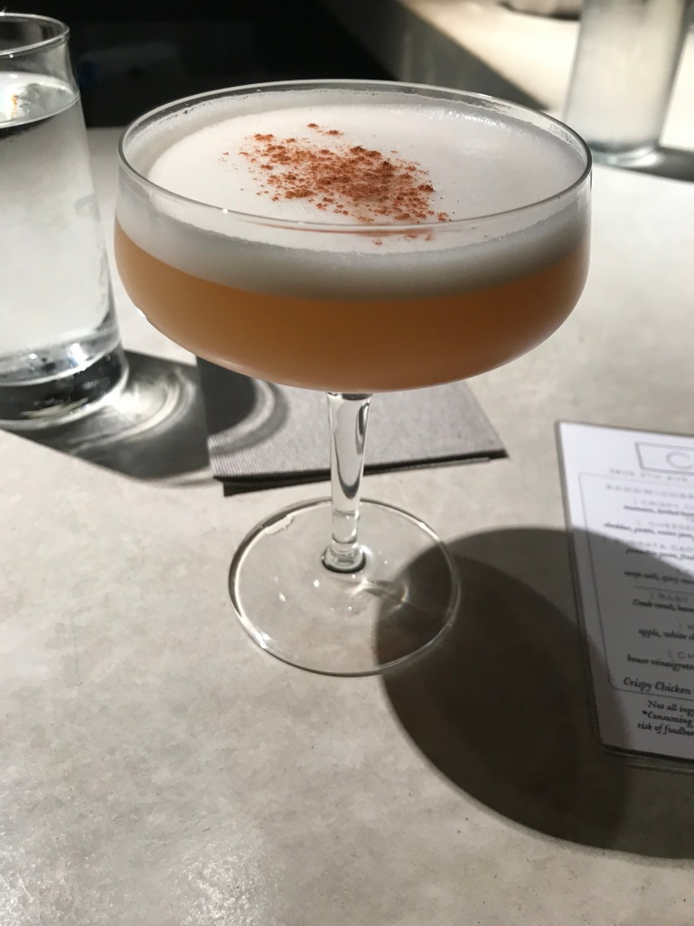 Sidecar with chai-infused bourbon
